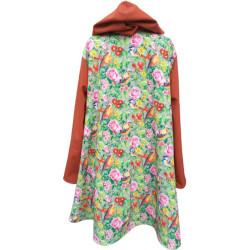 Manteau outdoor avec capuche pour femme Gazouillis exclusivité Augustine Métro De dos