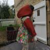 Veste coupe évasée gazouillis en softshell doublé de micro polaire de couleur brique