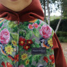 Veste coupe évasée gazouillis en softshell doublé de micro polaire de couleur brique Détail