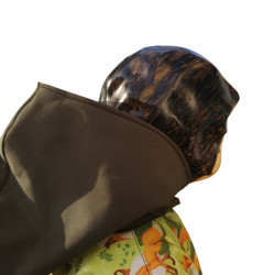 veste pour fille imprimé renard et uni kaki avec capuche pressions Augustine Metro La capuche