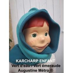 Karcharp  Vert d'eau / vert émeraude Capuche écharpe une exclusivité Augustine Métro  de profil