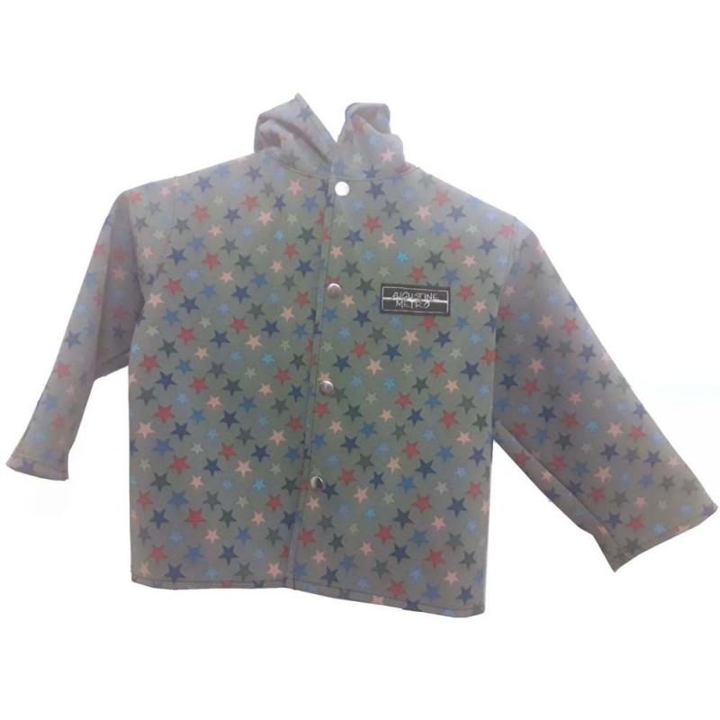 Veste droite avec capuche en softshell imprimé Europe doublé de polaire pour garçon outdoor