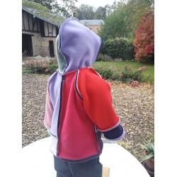 Veste Mondrian  montage Lily  pour enfant du 2 ans au 5 ans
