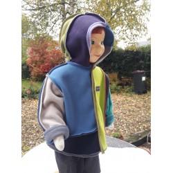 Veste Mondrian  montage New-York pour enfant du 2 ans au 5 ans