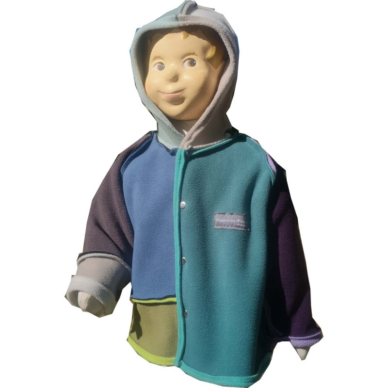 Veste Piet avec capuche pour nourrisson montage Sun-Farm en polaire double face Augustine Métro