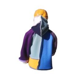 Veste Piet avec capuche pour nourrisson montage Sun-Farm en polaire double face Augustine Métro -De dos-