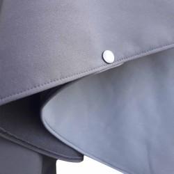 Poncho cape avec capuche  outdoor pour adulte en softshell  Léo Mallet doublé polaire noire Détail Passe bras