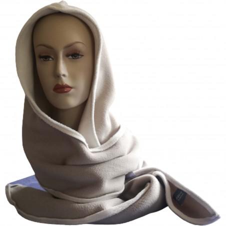 Charkap adulte en polaire double face beige / blanc Coutures extérieures. Augustine Métro.