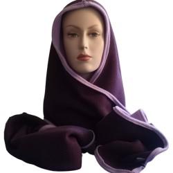 Poncho adulte en softshell montage Villon 2 couleurs buste