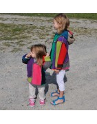Veste Mondrian enfant en polaire à partir du du 2 ans choix de montage